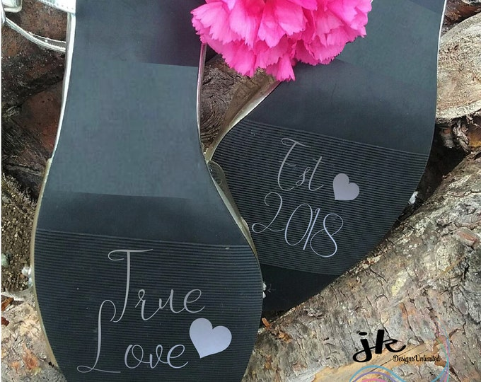 True Love Wedding Stickers