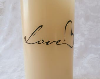 Flameless Wax Candle - Love
