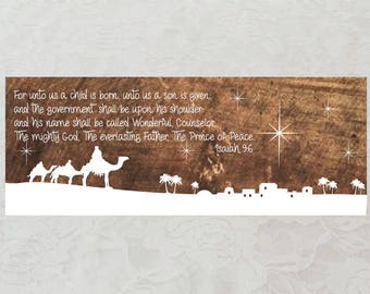 Isaiah 9:6 Wooden Wall Art