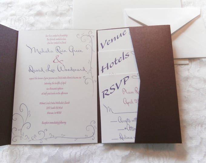 Elegant Mahala Wedding Invitations