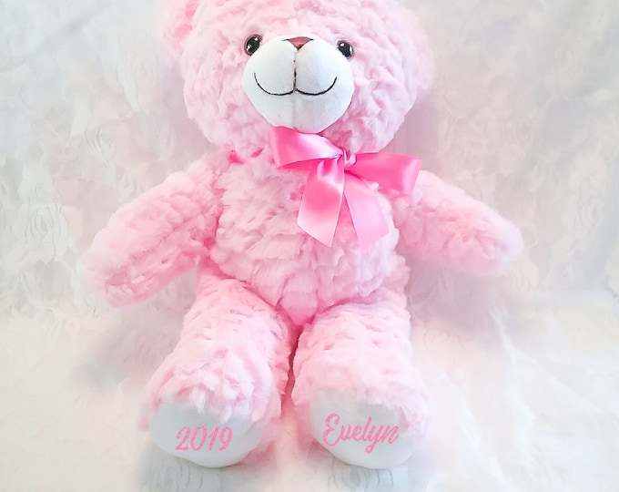 Personalized Bear- Pink