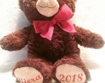 Personalized Bear-Dark Brown