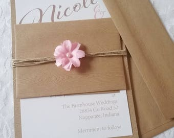 The Rustic Beauty Invitation Suite
