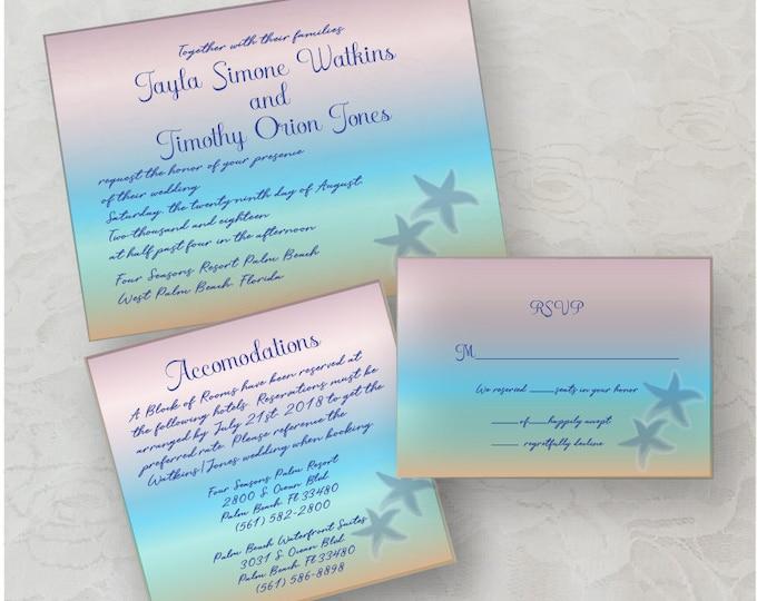 Star Fish Invitation Printable Download (DIY)