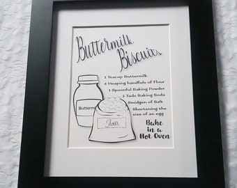Buttermilk Biscuits Recipe Wall Art-DIY Printable Download