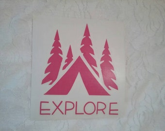 Explore Nature Camping Wilderness Window Decal