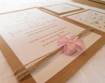 The Rustic Dream Invitation Suite