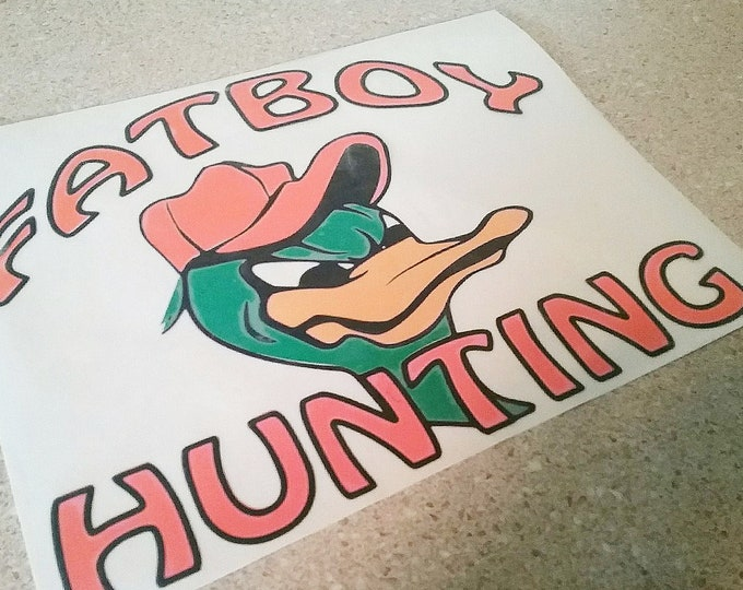 Fatboy Hunting™ Car Decal