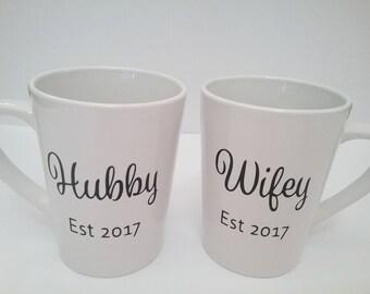 Hubby & Wifey Coffee Mugs