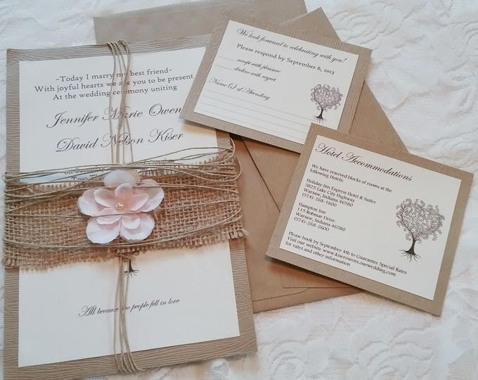 Custom Wedding Invitations Deposit Only