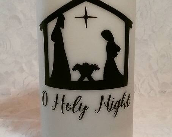 Oh Holy Night Decorative 6inch Flameless Wax Candle