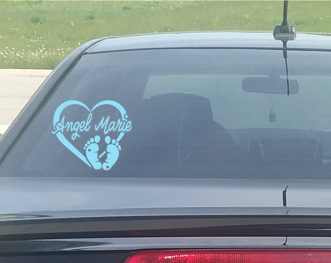 Child in Heaven Heart Decal