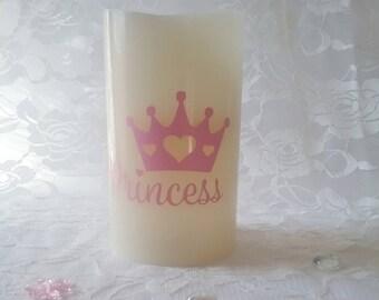 Flameless Decorative Candle- Princess