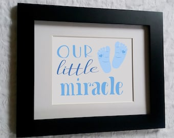Our Little Miracle- DIY Printable Wall Art-Blue