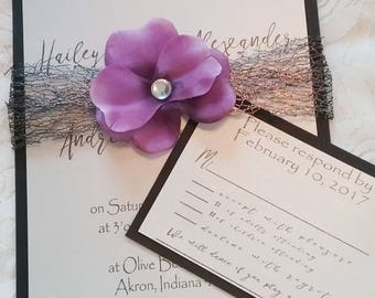 Blacktie Wedding Invitation