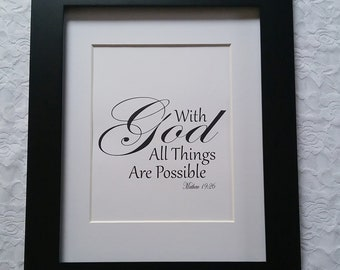 With God All Things Are Possible DIY Printable Wall Art