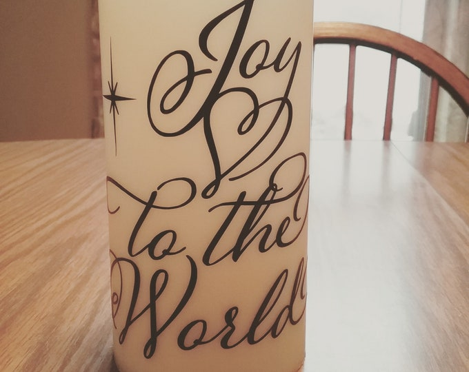 Decorative Flameless Candles -Joy to the World