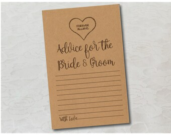 DIY Printable Marriage Advice Cards-Country