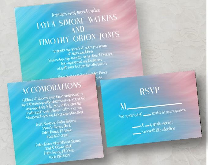 Ocean Wave Invitation Printable Download (DIY)