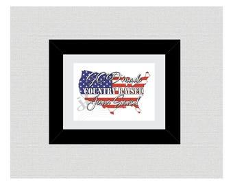 God Made, Country Raised, Jesus Saved, DIY Printable Wall Art