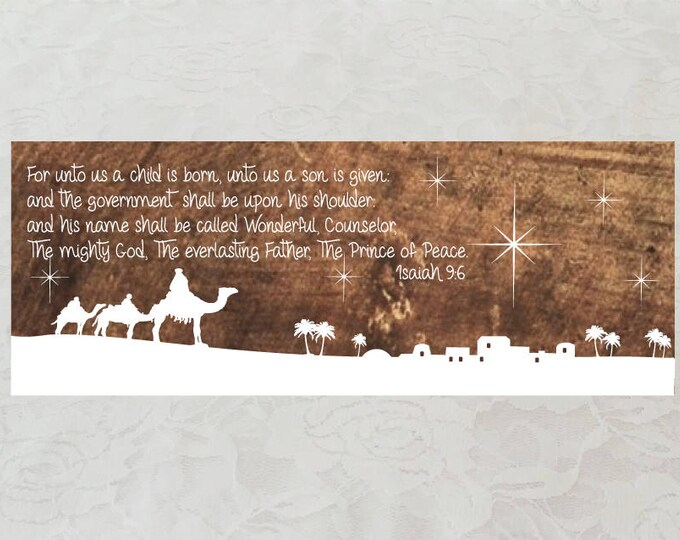 Isaiah 9:6 Wooden Wall Art