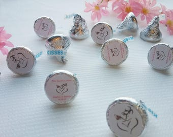 DIY Personalized Hunting Hershey Kiss Labels