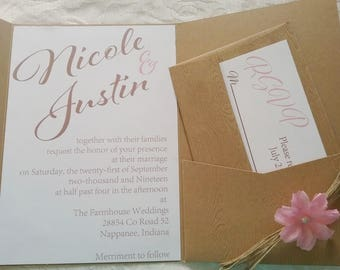 The Rustic Sweetheart Invitation Suite
