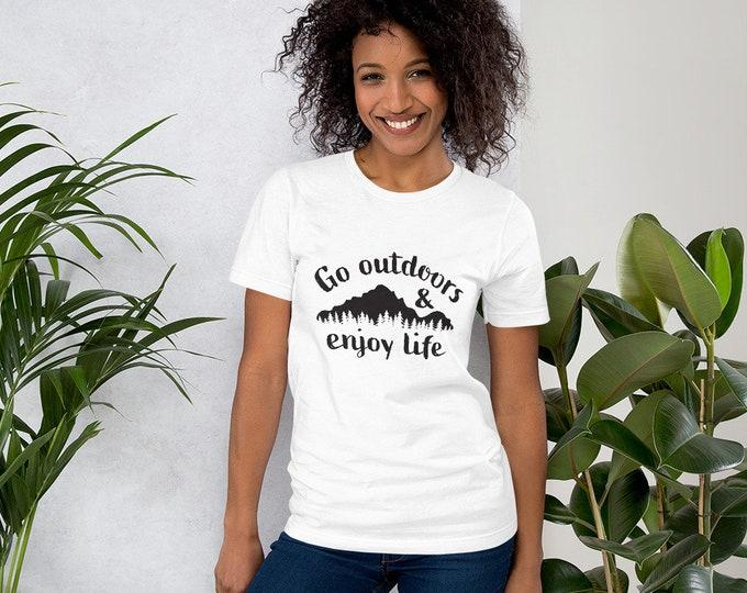 Go Outdoors & Enjoy Life Short-Sleeve Unisex T-Shirt