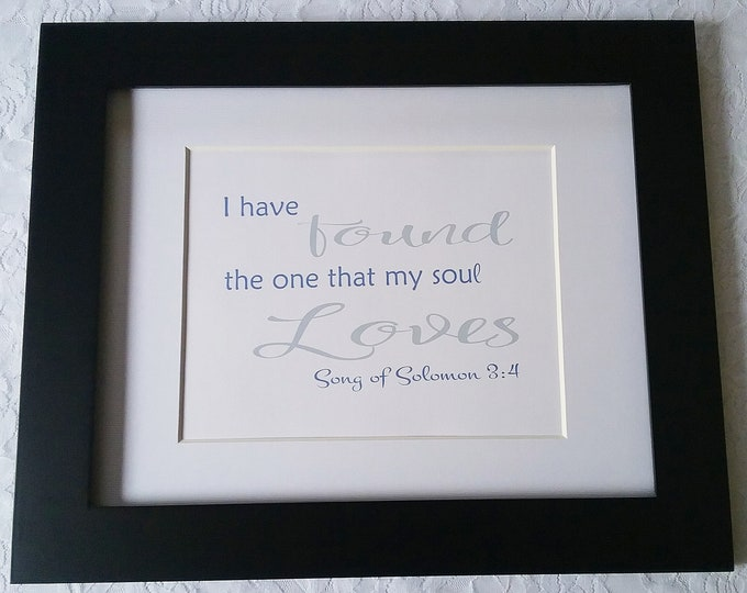 I have found the one whom my soul loves- Purple & Gray DIY Printable Wall Art