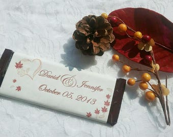 Custom Chocolate Favor Labels- Digital Download