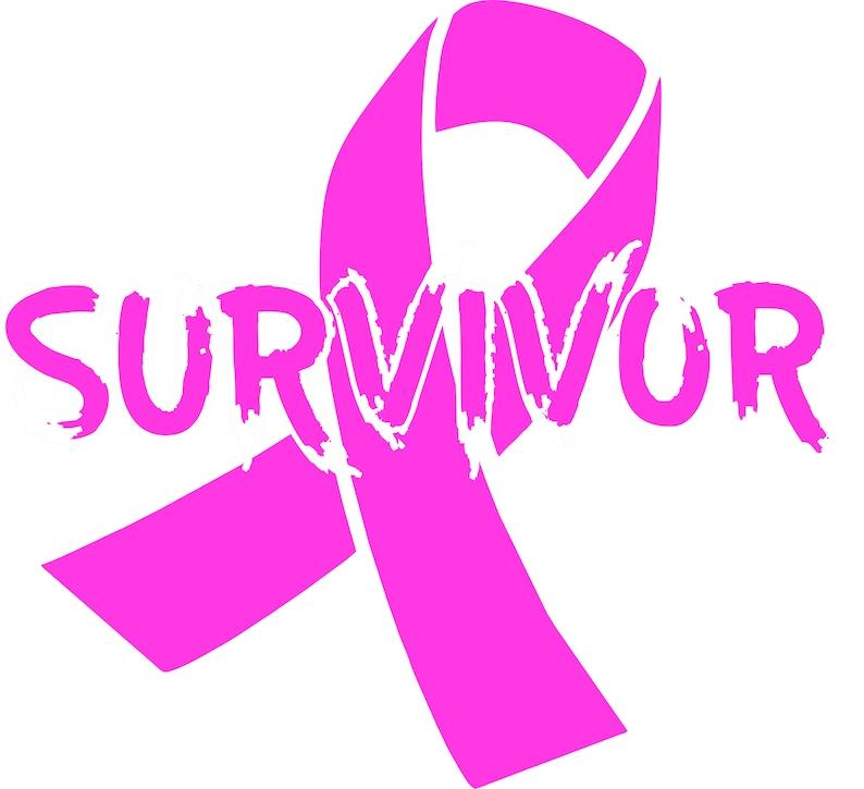 Breast Cancer Survivor pink ribbon Decal