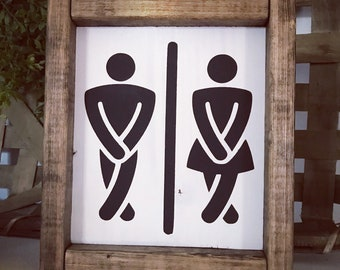 Unisex Bathroom Sign Etsy - Unisex bathroom sign