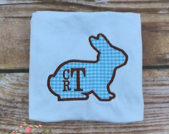 Boys Easter Bunny Shirt, boys easter shirt, monogram easter shirt, embroidered, personalized, easter, boys easter