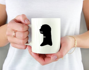 Zombie Girl Silhouette Permanent Vinyl Decal {Decal ONLY} | Coffee Lover, Coffee Mug Decal, Tumbler Decal, Cup Decal, Laptop Decal