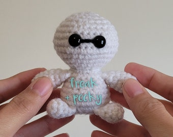 Robot Max Pocket Poppet - Pop Culture Collectibles - Gift for Geeks - Fluffy Nurse Toy - Health Companion Doll - Made To Order