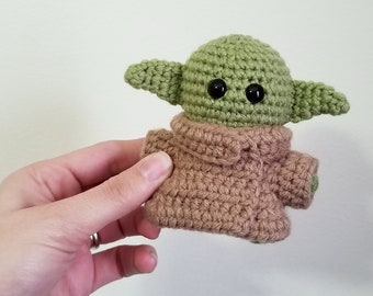 Galaxy Baby Alien Pocket Poppet - SciFi Collectible - Gift for Geeks - Green Alien Doll - Comic Con - Made To Order