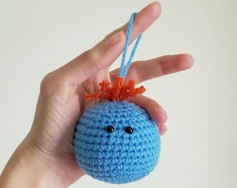 Meeseeks Poppet Hanger - Amigurumi Ornament, Rick & Morty Decor, Gift for Geeks, Geeky Decor, Comic Con , Nerdy Christmas, Made To Order