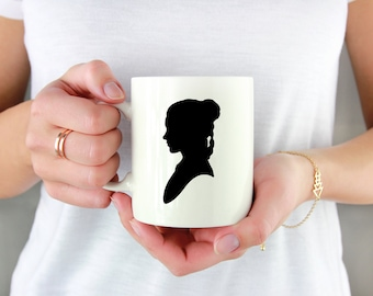 Princess Leia Silhouette Permanent Vinyl Decal {Decal ONLY} | Coffee Lover, Coffee Mug Decal, Tumbler Decal, Cup Decal, Laptop Decal