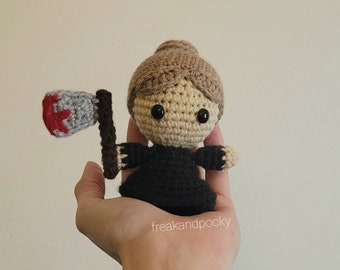 Lizzie Borden Pocket Poppet - Spooky Collectibles - Gift for True Crime Fans - Halloween Decor - Ready to Ship