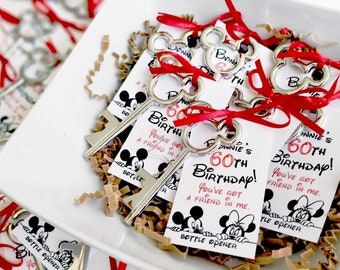 1st Birthday favors Mickey mouse key bottle opener Disney favors Mickey mouse favors disney party 2nd 3rd 4th 5th birthday favors