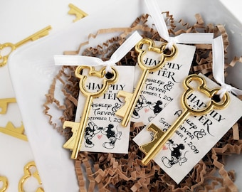 Personalized Gold bridal shower favors gold wedding favors Mickey favors Disney favors disney party favors 1st birthday baby shower favors