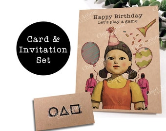 Squid Game Card and Invitation Set