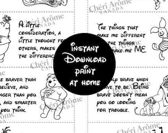 Black and White Lunch Notes for Kids Lunch Box Cards Downloadable Cards Encouragement Cards