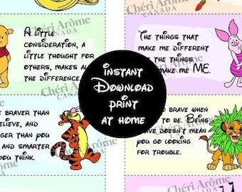 Lunch Notes for Kids Lunch Box Cards Downloadable Cards Encouragement Cards