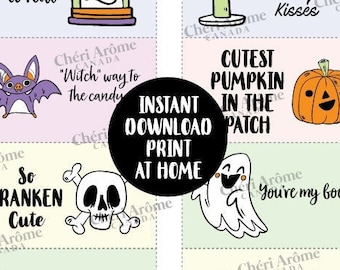 Halloween Lunch Notes for Kids Lunch Box Cards Downloadable Cards Encouragement Cards
