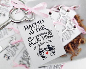 Disney Party Favors Mickey favors disney wedding favors bottle opener favors skeleton key favors anniversary gifts for guests