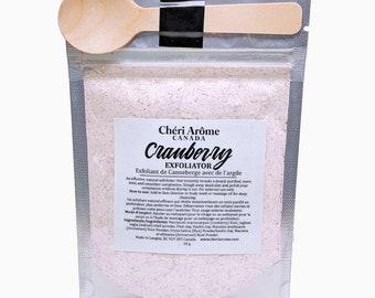 Cranberry fiber cleansing grains facial scrub facial exfoliate