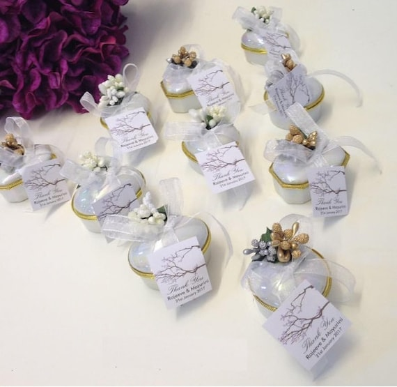 Wedding Favors for Guests Decorated Porcelain Favor Box Mini Jewelry Box Bridal Shower Favor Party Favor