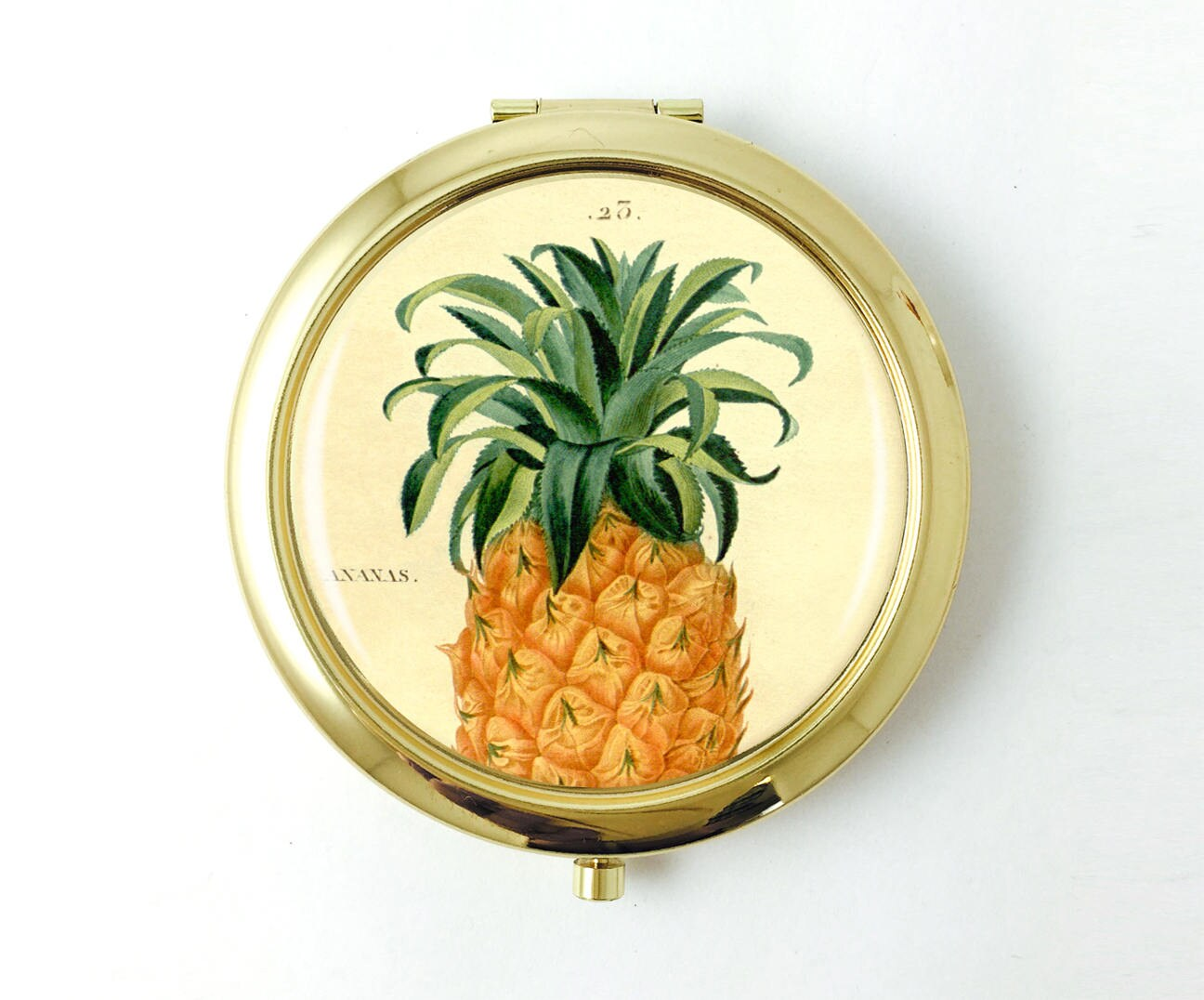 Hawaiian Wedding Gift Ideas: Tropical Bridesmaid Pineapple Compact Hawaiian Wedding