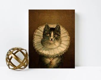 Cat Art,Cat Print,Canvas Print,Nursery art,Cat Art,Birthday gift for Cat Lover,Cat Mama,Wall Art,Cat Decor,Nursery Decor,cat Gifts for Women